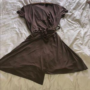 Cute Brown Wrap Dress  Small